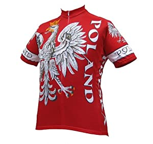 World Jerseys Mens Poland Cycling Jersey by World Jerseys