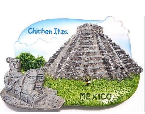 チチェン ・ イッツァ メキシコ ピラミッド画期的な 3 D ガレージ グッズ冷蔵庫マグネット