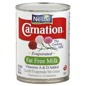 Amazon.com : Nestle Carnation Fat Free Evaporated Milk 12 ...