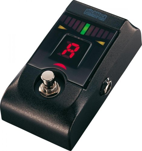Korg Aluminum Chromatic Tuner Pedal With 100% True Bypass Output For Electric Guitars And Bass