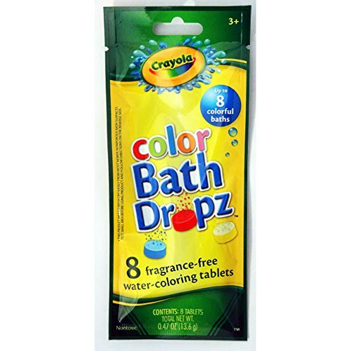 Hallmark Crayola Color Bath Dropz 8 Water-coloring Tablets