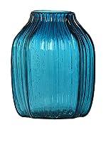 SCANDI CHIC Jarrón Jarrón De vidrio Azul