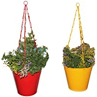 First Smart Deal Metal Hanging Chain Bucket Multi - Pack Of Two