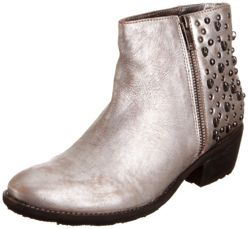 Bronx Women's Ankle Leather Silver Side Zip Boots 43748-B43 5 UK