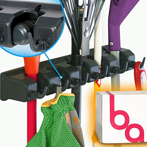 Berry Ave Broom Holder and Garden Tool Organizer for Rake or Mop Handles Up To 1.25-Inches (Broom And Standing Dustpan compare prices)
