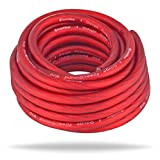 InstallGear 4 Gauge Ga Awg Red 25ft Power/Ground Cable True Spec and Soft Touch Wire