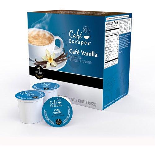 Cafe Escapes Cafe Vanilla Coffee Keurig K-Cups, 16 Count