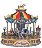Lemax Carnival Village Collection Sights & Sounds Belmont Carousel Ride #44171