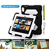 """ACEGUARDER Shockproof Case for Kindle Fire HDX 7"""" Rainproof Waterproof Shockproof Kids Proof Case for Kindle Fire HDX 7""""(only Fit Kindle Fire HDX 7 2013) (Gifts Outdoor Carabiner + Whistle + Handwritten Touch Pen) (BLUE)"""