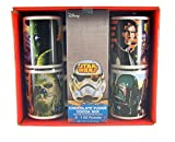 Disney Star Wars 4 Piece Ceramic Mug Gift Set with Chocolate Fudge Coca Mix