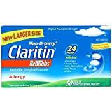 Claritin RediTabs - 24 Hour Allergy Non-Drowsy - Loratadine 10 mg - 50 Tablets