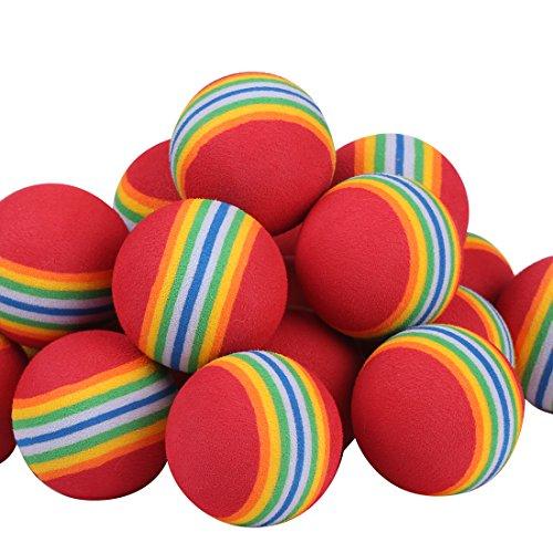 Andux Übung golfbälle Schaumstoff Mehrfarbig 100pcs rot CHQ