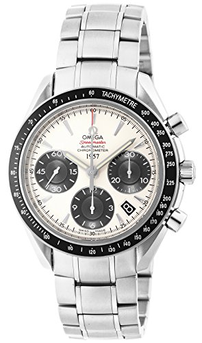 Omega Speedmaster Watch Silver Dial Automatic Chronograph 100m Waterproof 323.30.40.40.02.001 Men (Omega Automatic Speedmaster compare prices)