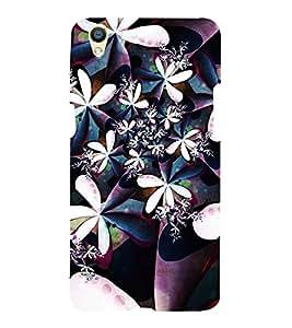 Flower Design Purple 3D Hard Polycarbonate Designer Back Case Cover for Oppo F1 Plus :: Oppo R9
