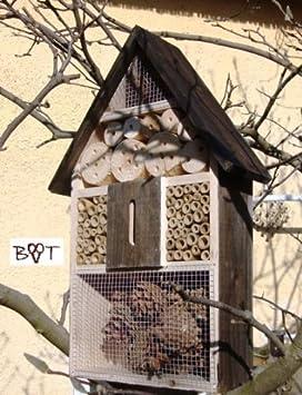 black insektenhotel gro 50 cm schwarz kleines vogelhaus meisen. Black Bedroom Furniture Sets. Home Design Ideas