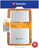 "Verbatim 53021 Store 'n' Go Disque dur externe portable 2,5"" USB 3.0 500 Go"