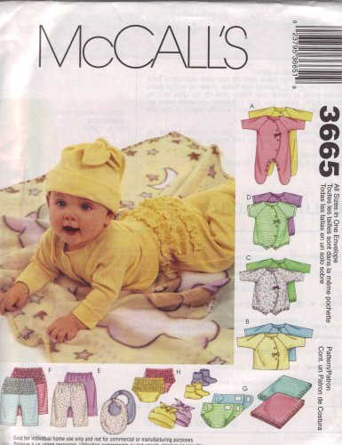 Mccall'S Infant'S Pattern 3665 front-1068180