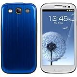kwmobile® Akku-Deckel aus gebürsteten Aluminium für das Samsung Galaxy S3 i9300 / S3 Neo i9301, Blau