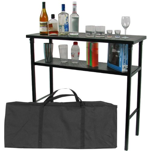 Deluxe Metal Portable Bar Table W/ Carrying Case front-727363