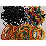 Tattoo Grommets, O Ring's and Rubber Bands 300 Pcs by YUELONG