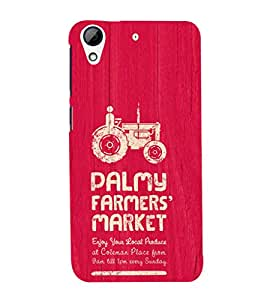 EPICCASE the farmer Mobile Back Case Cover For HTC Desire 728 (Designer Case)