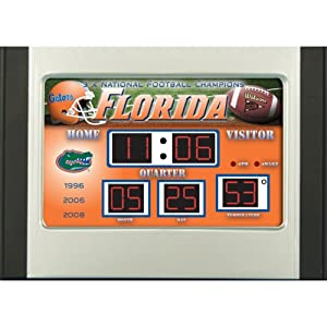 Florida Gators Scoreboard Desk Clock by Team Sports America