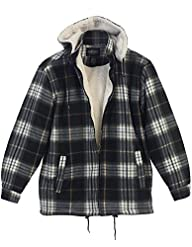 Gioberti Mens Checkered Flannel Jacke…