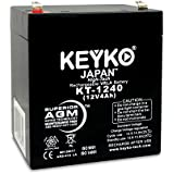 12V 4Ah Sealed Lead Acid SLA Battery Genuine KEYKO ® KT-1240 (W/ F-1 Terminal)