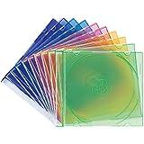 サンワサプライ スリムBD DVD CDケース 1枚収納×10 5色ミックス FCD-PU10MX