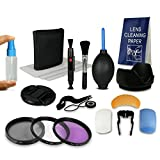 55mm Accessory Kit for Canon EOS 1100D 550D 600D - Sony Alpha 100 200 230 290 330 350 380 390 450 500 550 580 700 - Alpha 7 - Sony Alpha SLT-33 SLT-35 SLT-37 SLT-55V SLT-57 SLT-58 SLT-65V SLT-77V etc... - incl. F