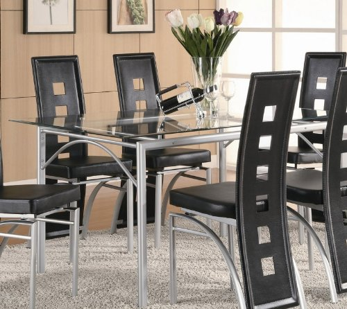 Rectangular Glass Dining Table Set Images