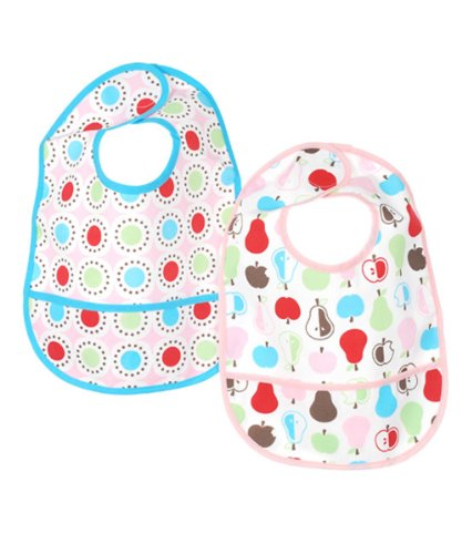 Luvable Friends 2 Count Baby Bib With Waterproof Backing - 1