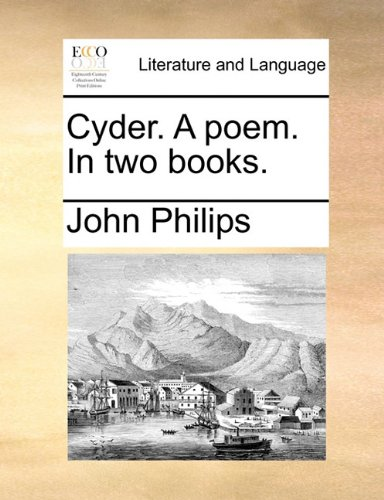 Cyder. A poem. In two books.