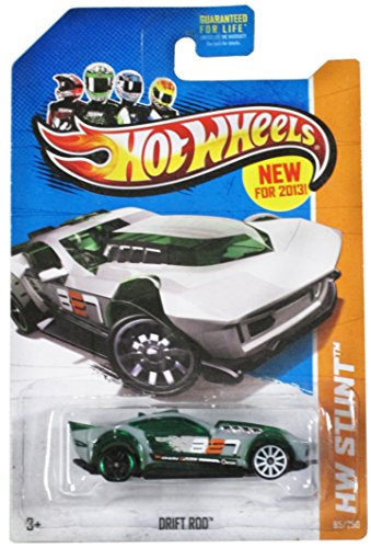 Hot Wheels 2013 Hw Stunt Green/Grey Drift Rod 85/250