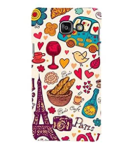 printtech Paris Love Tower Funky Pattern Back Case Cover for Samsung Galaxy A7 (2016)