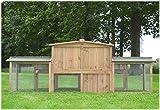 XXL Stall 2 PL Kaninchenstall Hasenstall Kaninchenkäfig Hasenkäfig Kleintierstall -
