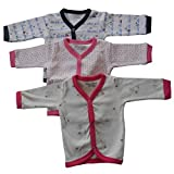 #8: Nammababy Cotton Front Open Full Sleeves Vest- Tshirt -Multi Cute Set Of 3 (9-12 Months)