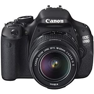 Canon EOS 600D Fotocamera Digitale Reflex 18 Megapixel + Kit 18-55 IS e 55-250 IS