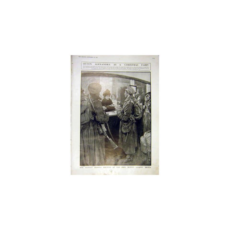 Queen Alexandra Soldiers Buffet London Bridge Ww1 1915   Prints