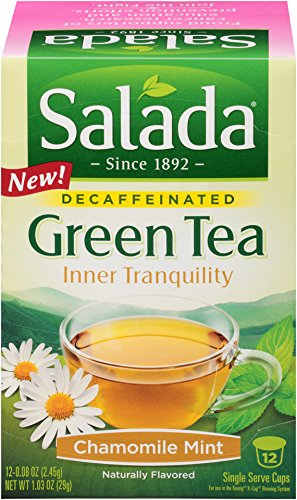 Salada® Inner Tranquility Chamomile Mint Decaffeinated Green Tea Single Serve Cups 6 Boxes/ 12ct (Single Serve Green Tea compare prices)
