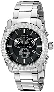 Invicta Men's 17741SYB Specialty Analog Display Swiss Quartz Silver Watch