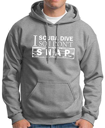 I Scuba Dive So I Don'T Snap Premium Hoodie Sweatshirt Medium Light Steel