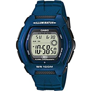 Casio - HDD-600C-2AVES - Montre Homme - Quartz Digital - Cadran Gris - Bracelet Cuir Noir