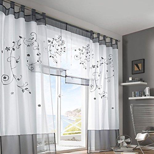 Transparent Gardine Vorhang Schlaufenschal Deko Fur Wohnzimmer Hammer