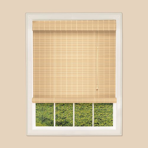 Trimable Bamboo Rollup Blinds - Easy Fit - Natural - 150cm