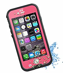 HESGI New Design iPhone 6 4.7 inch Waterproof Case [New Design Version] 6.6ft Underwater Waterproof Shockproof Snowproof Dirtpoof Protection Case,Pink