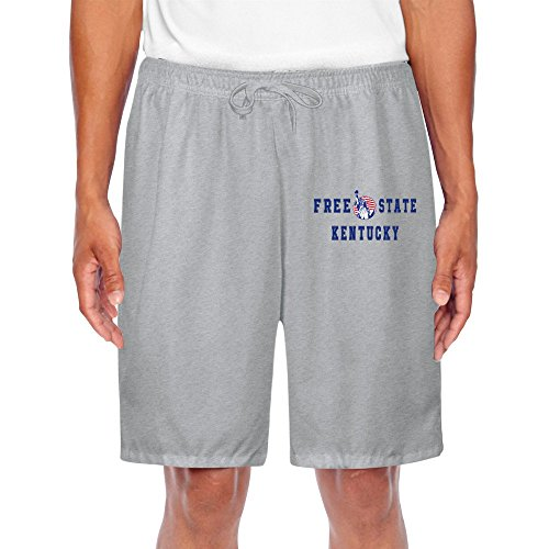 TOPNN Men's Free State Kentucky Short Sweatpants Ash (Tyson Chicken Fried compare prices)