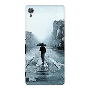 Special Beautiful Walking Rain Multicolor Back Case Cover for Xperia Z3 Plus