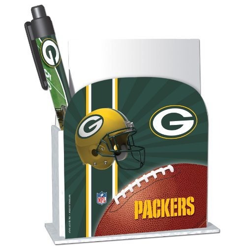 Green Bay Packers Stationery Desk Caddy with Matching Ballpoint Grip Pen - NFL (12019-QUJ) at Amazon.com