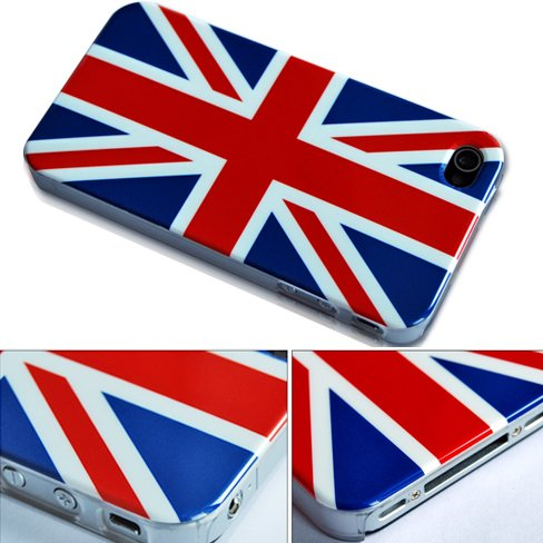 British Flag English Flag National Flag Hard Case Cover For Apple iPhone 4 AT&T England